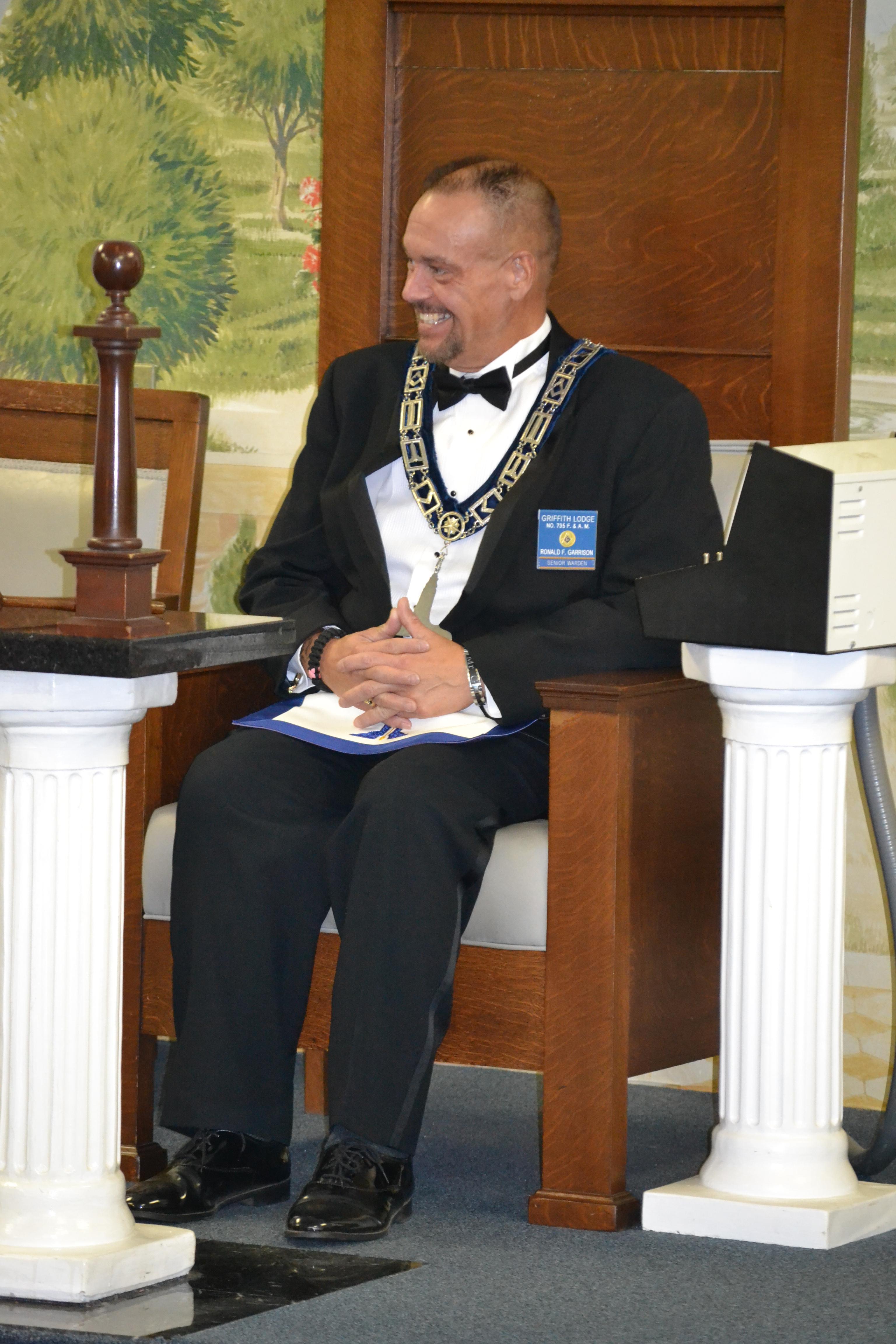 In senior wardens chair