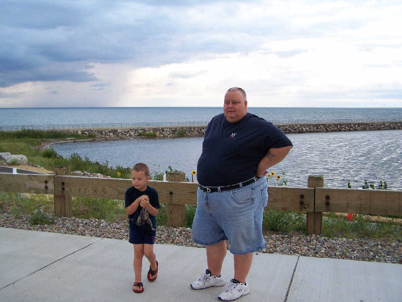 Zachary & Daddy at Portage Lakefront